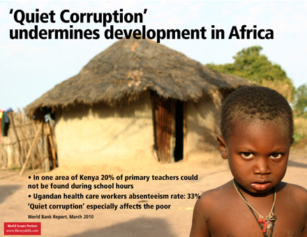 Quiet corruption' in Africa particularly affects the poor: April 2010