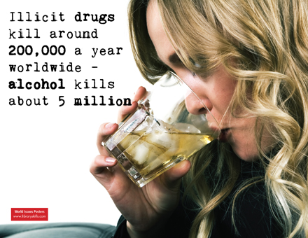 Alcohol & drug deaths worldwide, December 2009