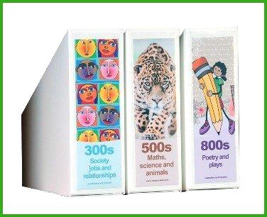 Graphic Non Fiction Shelf Divider Signs And Stands All